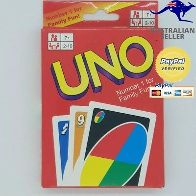 UNO CARDS Family Fun Playing Cards Educational Theme Card Game.
