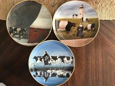 Franklin Mint Limited Edition Cow Plates