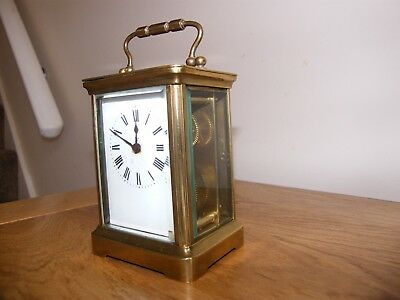 Nice condition French 5 glass carriage clock GWO