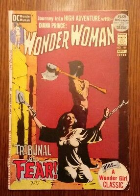 Wonder Woman #199 (Mar-Apr 1972, DC) CLASSIC ICONIC PAINTED COVER