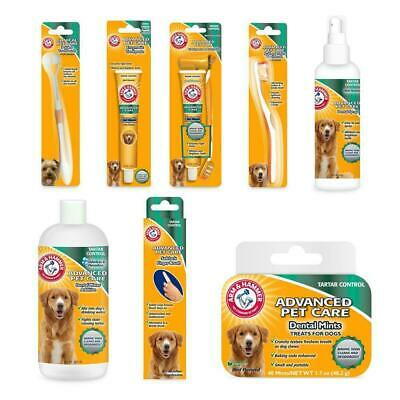 Arm & Hammer Dog Dental Teeth Care Toothpaste Toothbrush Mints Bad Breath Spray