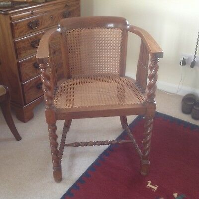"Lovely ""Arts and Crafts"" chair in oak and cane"