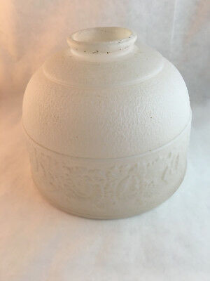 Vintage Frosted Glass Lamp Shade Standard Fitter Roses Antique