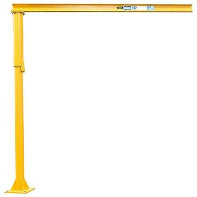 NEW! MD Floor Mounted Jib Crane-1000 Lb. Cap-10' Under Beam Height, 14' Span!