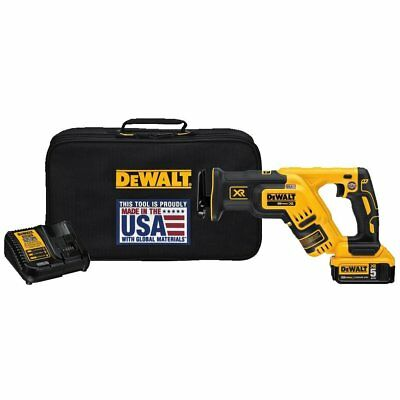 DEWALT DCS367P1 20V MAX XR Compact Brushless Reciprocating Saw Kit (5.0 Ah)