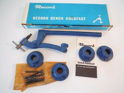 VINTAGE RECORD BENCH HOLDFAST - NEW NIB - No. 145 - WOODWORK VISE CLAMP ENGLAND