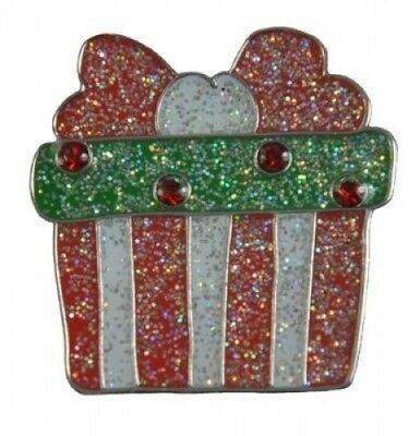 Navika Christmas Gift Glitzy Ball Marker with. Crystal and Hat Clip