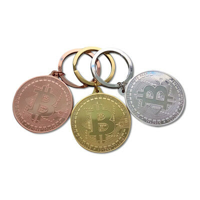 Bitcoin Coin Metal Key Chain - Gold / Silver / Bronze Finish