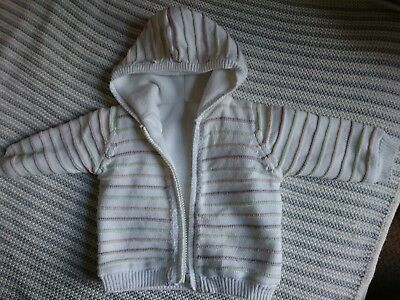 Aus England UK * Warme Baby Strickjacke * Mothercare * Größe 62/68 * 3-6 Monate
