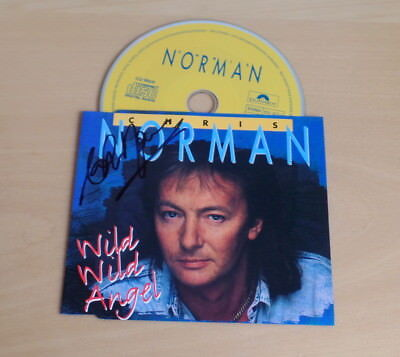 Chris Norman *Midnight Lady, Smokie* original signed CD Cover *W. W. Angel* + CD