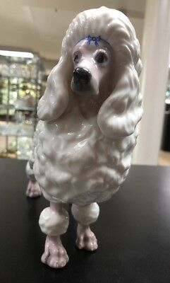 "Borhen Male French Poodle Porcelain Figurine, 8.25"" H 7"" L, Beautiful Detail"