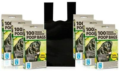 DOGGY BAGS Fragranced Pet Pooper Scooper Bag Dog Cat Poo Waste Toilet Poop Extra