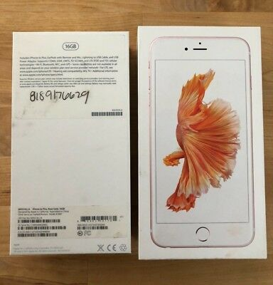 Apple iPhone 6s plus 16Gb Rose Gold Empty BOX ONLY No Phone or Accessories