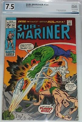 Sub-Mariner #34 PGX/CGC graded 7.5 Prelude to Marvel Feature #1 (1st Defenders)