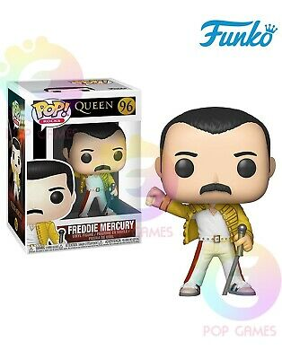 FREDDIE MERCURY WEMBLEY 1986 #96 Funko POP Rocks QUEEN Vinyl Figure