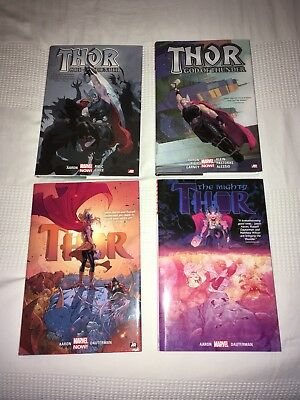 Thor God Of Thunder & The Mighty Thor By Jason Aaron Oversized Hardcovers