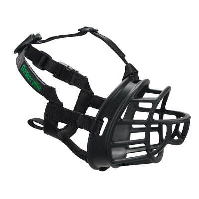 Baskerville Ultra Adjustable Durable Padded Dog Muzzle Comfortable All Sizes