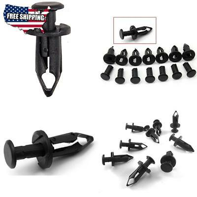 Rion 30Pc 8Mm Plastic Black Atv Fender Clips For Suzuki King Quad Vinson Honda
