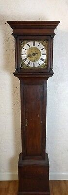Single Finger Brass Faced 18th Century Longcase Clock