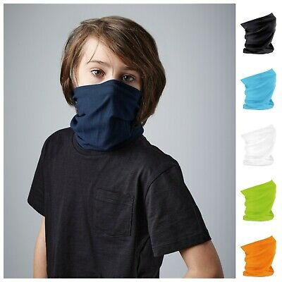 Child Kids Neck Warmer Snood Scarf Ski Hair Head Band Bandana Junior Multi Use