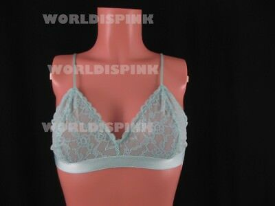 d8d61ffe16 VICTORIA S SECRET PINK Strappy Back Bralette Bra Logo Tropical Palm ...