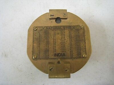 Rare Vintage Natural Sine Brass Compass With Level--India Sine Table