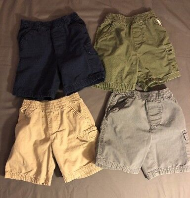 Boys 4t Jumping Beans Lot of 4 Shorts - Pocket Pull On