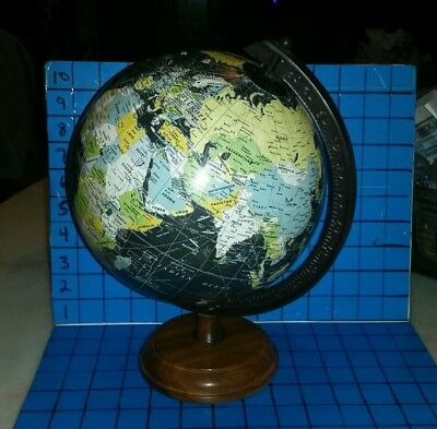 "Pottery Barn Desk Map Globe Air & Shipping Routes 12"" high"