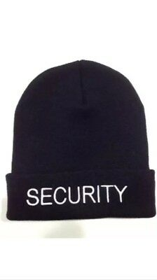 10 Pack 'SECURITY' Beanies (Black with White Lettering) ❄️❄️BEST VALUE❄️❄️