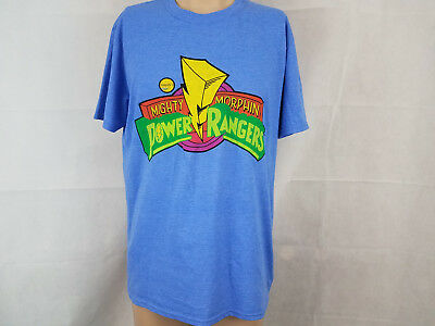 8b4d781f2 MIGHTY MORPHIN POWER rangers mens graphic t shirt tee NWT blue Large ...