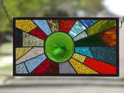 """MERRIMENT""Stained Glass Window Panel • Suncatcher"
