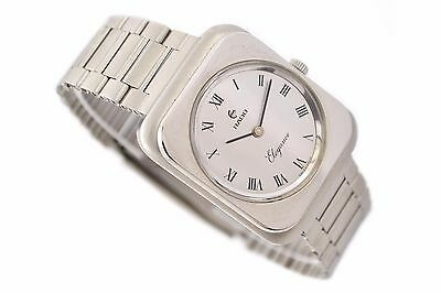 Vintage Rado Elegance Stainless Steel Hand Wind Midsize Watch 1402