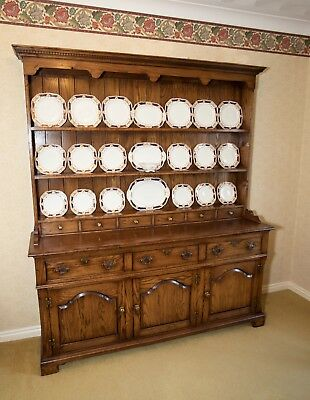 Traditional solid oak Welsh dresser by Bryn Hall Country Furniture