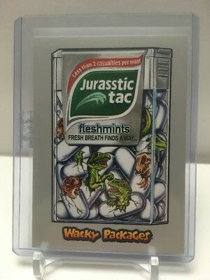 2018 TOPPS Wacky Packages GO TO THE MOVIES - Sci Fi #22 Jurasstic tac 49/50