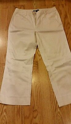 Trousers Etc. Womens Capri Pants Size 8 White Ladies NICE Summer Gorgeous Dressy