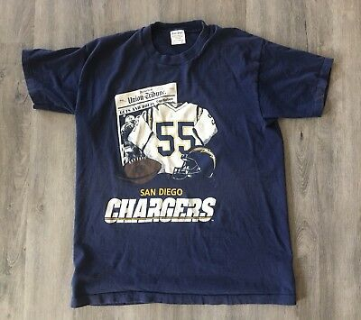 **Vtg** Junior Seau San Diego Chargers Nfl 75Th Anniversary Usc Mens Xl T-Shirt