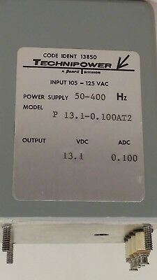 Technipower Power Supply P13.1-0.100AT2 50-400 Hz 105-125 VAC -13.1 DC 0.100ADC