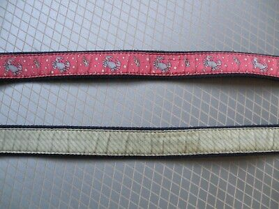 Boy's Lot of 2 Vineyard Vines Whale Canvas Club Belt Green Red Crab size 28