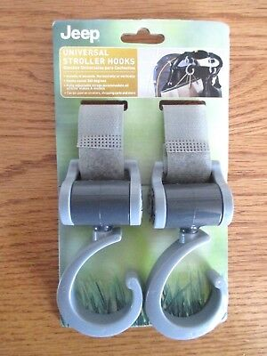 Set of 2 Universal Stroller Hooks by Jeep