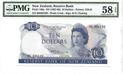 New Zealand Reserve Bank 10 Dollars - P166a- PMG58 EPQ- An Exquisite Example!