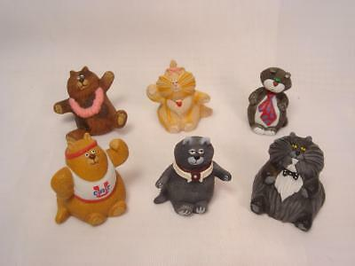 Vintage 1986 Hallmark Merry Miniatures Purrsonality Cats Lot Of 6