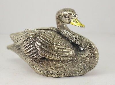 Beautiful Sculpted SWAN ~ Italian Sterling Silver ~ .925 917 F1 ~ Collectible