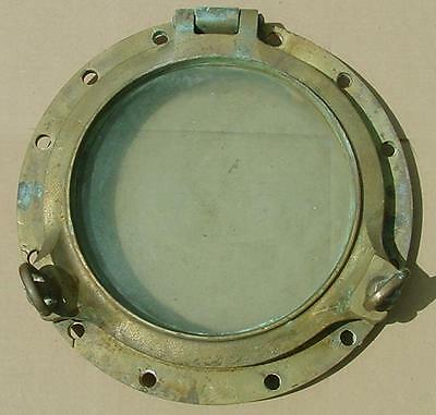 "Authentic Brass Porthole 17.5"" Diameter - From Texaco Rochester Tanker"