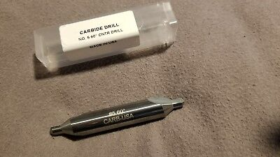 No.5 Solid Carbide Center Drill, Regular, 60 Degree Included Angle, Uncoated,