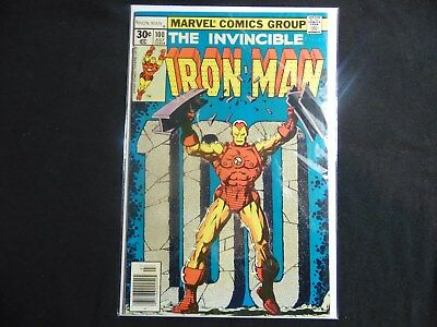 Iron Man #100 Vf+ 8.5 High Grade Book Starlin Art,mandarin Battle...key Issue