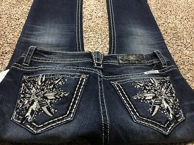 Nwt Miss Me Signature Straight Snowflake New Designer Jeans Size 29