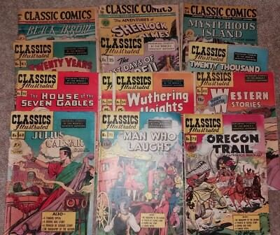 Classics Illustrated - Lot of 13 (Various Issues #31-#72) 1st Issues