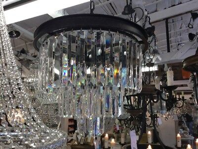 MODERN CRYSTAL VINTAGE FRENCH CHANDELIER LIGHT PENDANT HALLWAY EMPIRE No.100