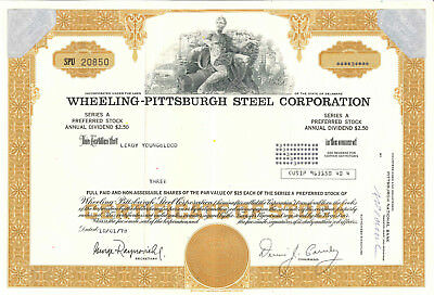 Wheeling-Pittsburgh Steel Corporation > West Virgina company stock certificate