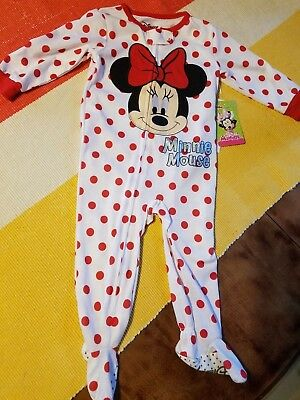 Disney Store Minnie Mouse Red Polka Dot Baby 1pc Pajamas  Size 12M 18-24 M
